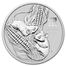 Picture of 1oz Lunar Mouse Silver Coin (2020)