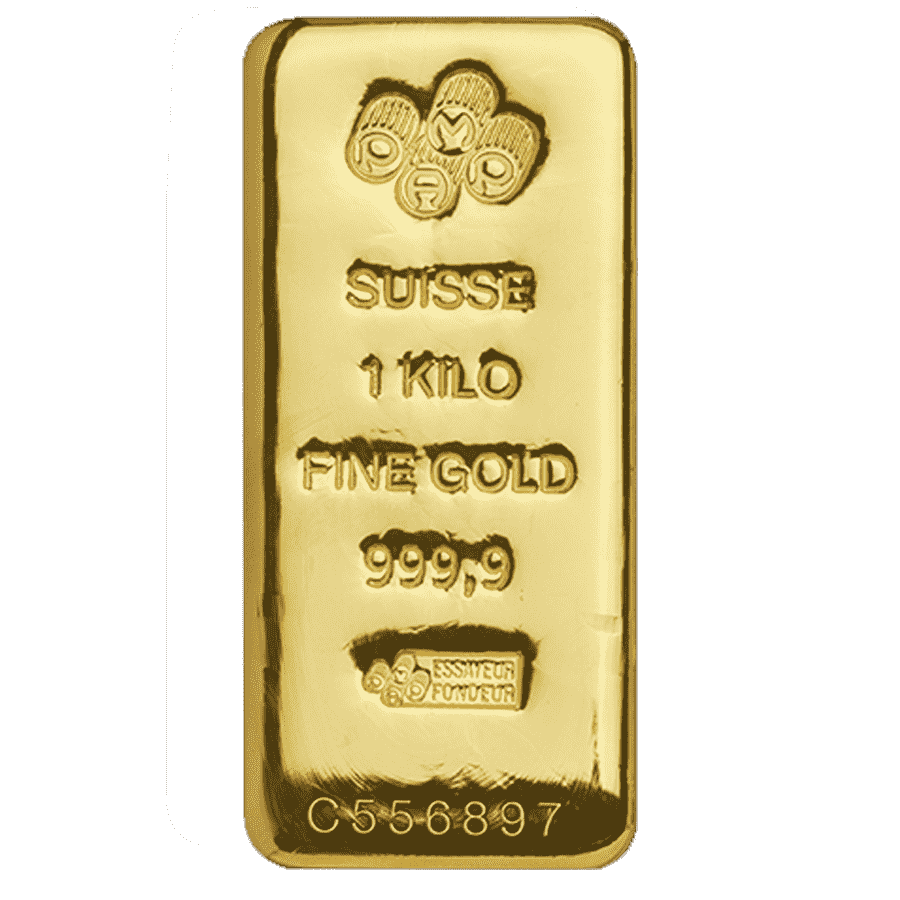 Picture of 1kg PAMP Gold Cast Bar