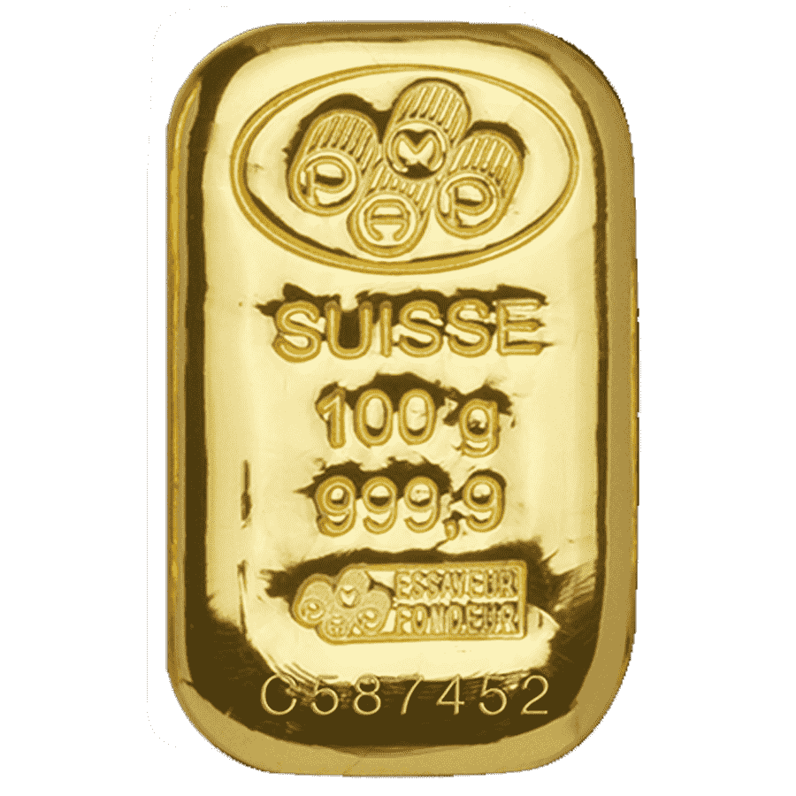 Picture of 100g PAMP Gold Cast Bar