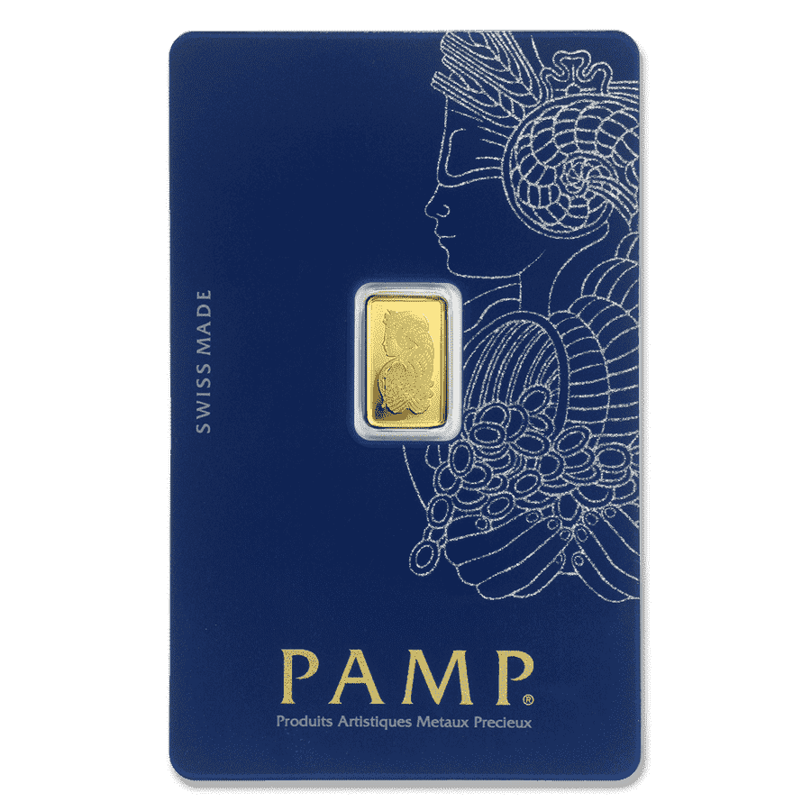Picture of 1g PAMP Gold Minted Bar
