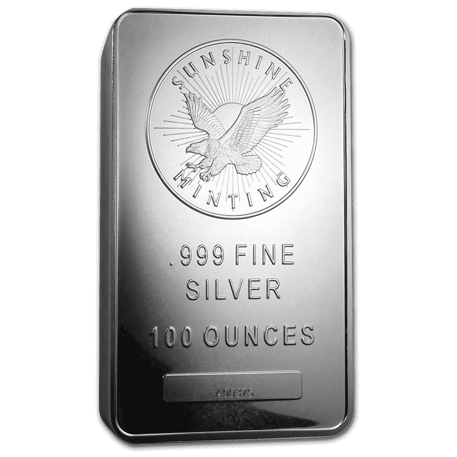 Picture of 100oz Sunshine Mint Silver Minted Bar