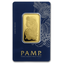 Picture of 1oz PAMP Gold Minted Bar