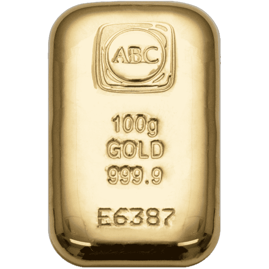 Picture of 100g ABC Gold Cast Bar